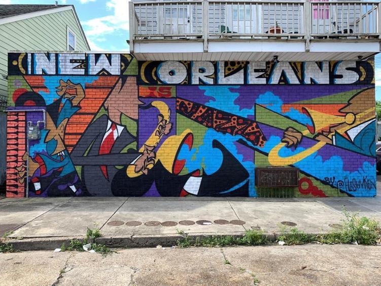art deco mural
