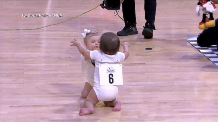 The Pelicans Baby Crawl Race Might Be The Cutest Thing You