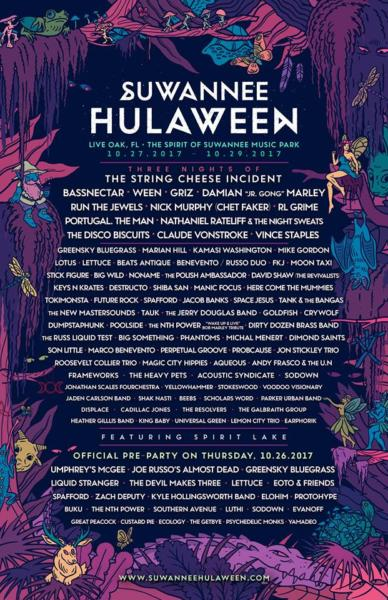 Suwannee Hulaween 2017 Lineup