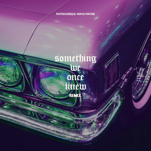 PatrickReza & Maya Payne - Something We Once Knew (Remix)