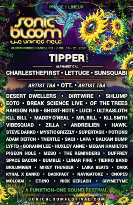 sonic bloom lineup