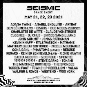 seismic dance event music festival lineup with artists austin texas