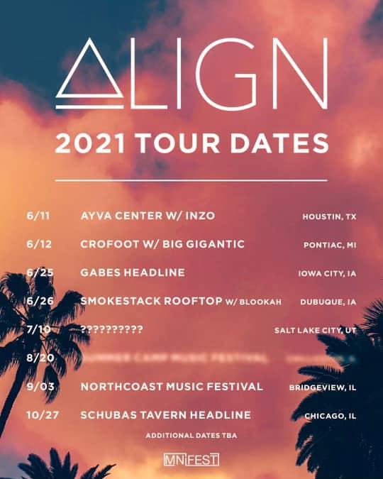align music tour dates